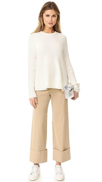Jason Wu Grey Long Sleeve Flare Sweater