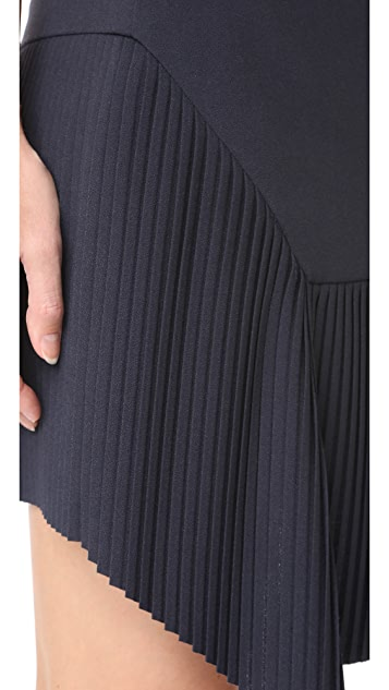 Jason Wu Grey Miniskirt with Pleated Detail