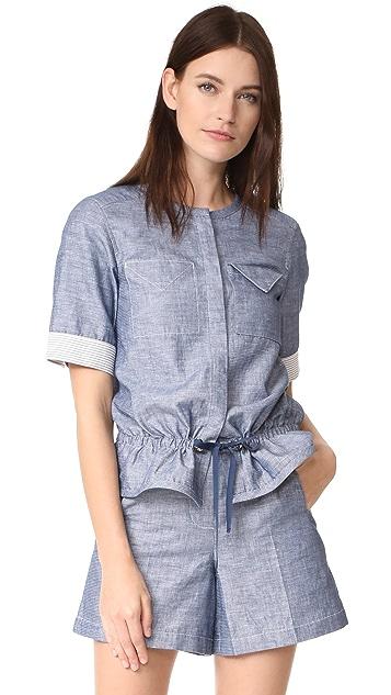 Jason Wu Grey Short Sleeve Top