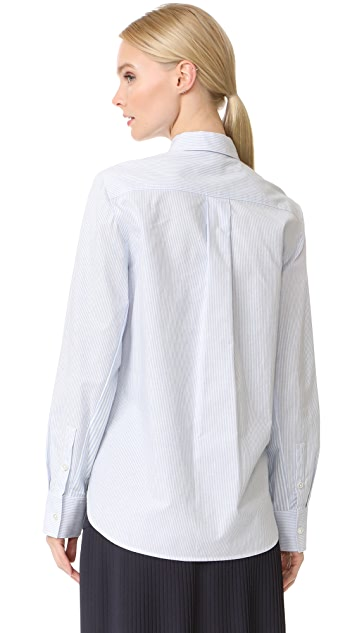 Jason Wu Grey Button Down Stripe Cotton Shirt