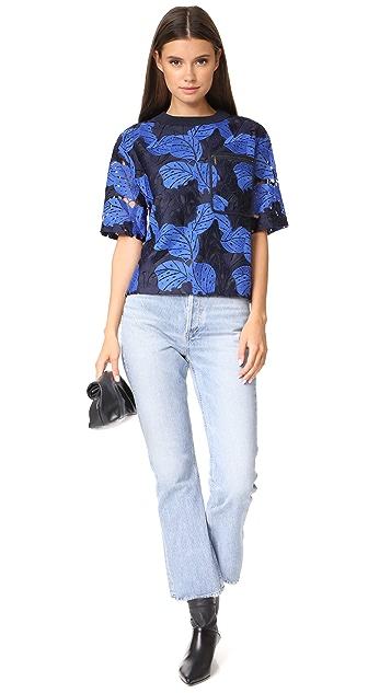 Jason Wu Grey Lace T-Shirt