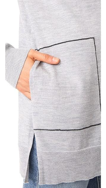 Jason Wu Grey Long Sleeve Cardigan