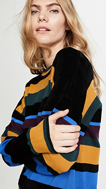 Jason Wu Grey Striped Sweater