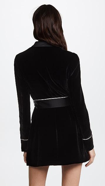 Jason Wu Grey x Diane Kruger Velvet Shirt Dress
