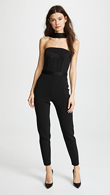 Jason Wu Grey x Diane Kruger Heavy Body Crepe Jumpsuit - Black