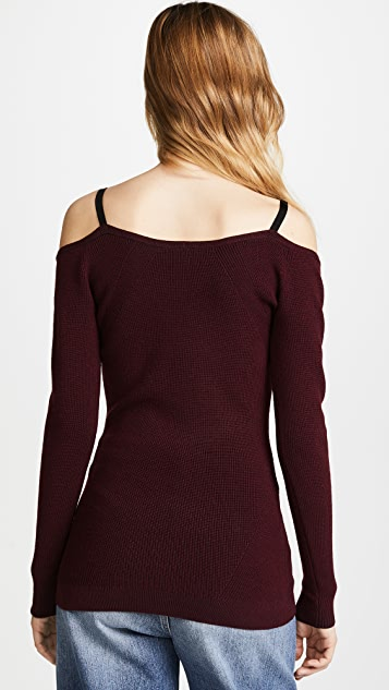 Jason Wu Grey Off Shoulder Knit Top
