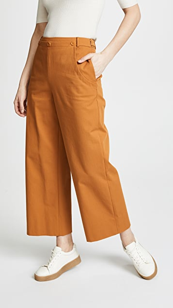 Jason Wu Grey Stretch Twill Sailor Pants