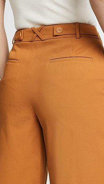Jason Wu Grey Stretch Twill Sailor Pants
