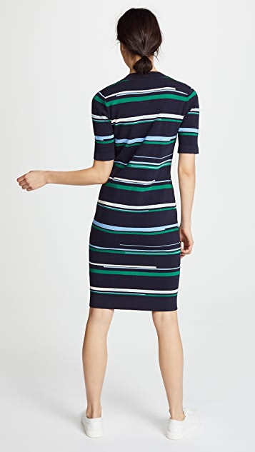 Jason Wu Grey Striped Knit Dress