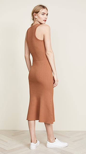 Jason Wu Grey Crew Neck Ribbed Dress