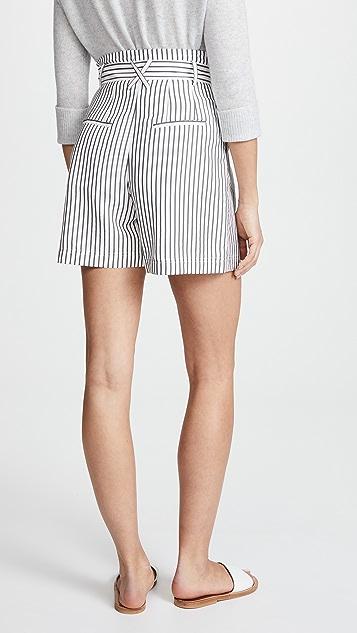 Jason Wu Grey High Waist Paper Bag Shorts