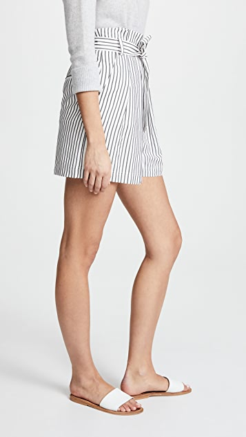 Jason Wu Grey High Waist Paper Bag Shorts