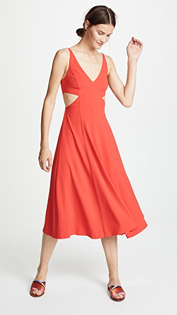 Jason Wu Grey Satin Back Crepe Cutout Dress