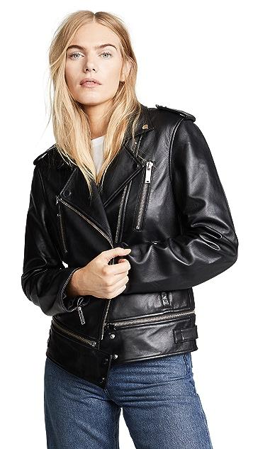 Jason Wu Grey Leather Jacket