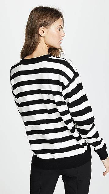 Jason Wu Grey Striped Oversized Sweater