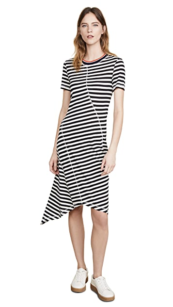 Jason Wu Grey Striped Jersey Dress