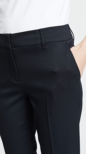Jason Wu Grey Cigarette Pants with Top Stitch Detail