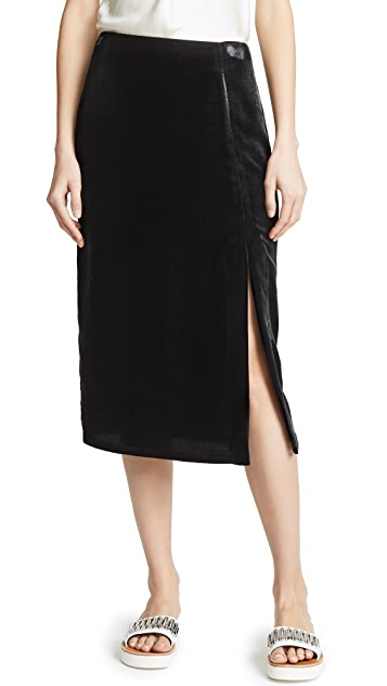 Jason Wu Grey x Diane Kruger Velvet Pencil Skirt