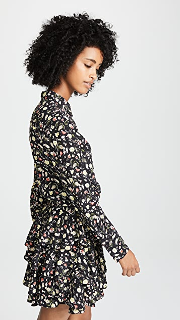Jason Wu Grey Painterly Floral Dress