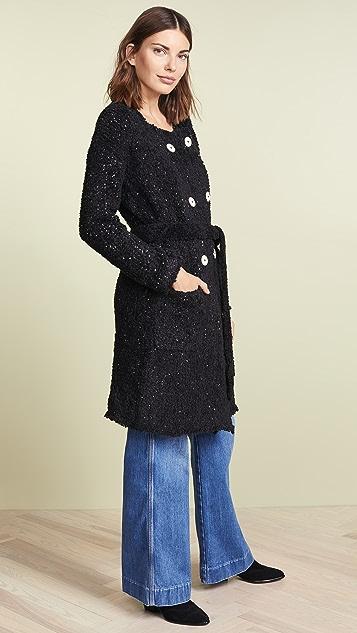 Jason Wu Boucle Double Breasted Coat