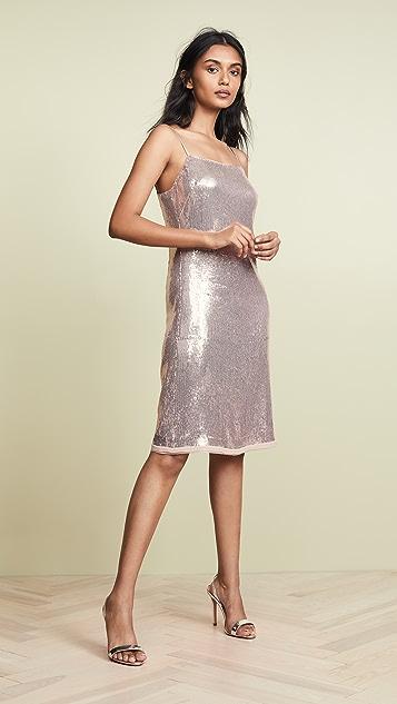 Jason Wu Grey Sequin Spaghetti Strap Dress