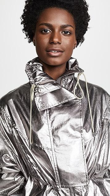 Jason Wu Grey Metallic Foil Drawstring Jacket