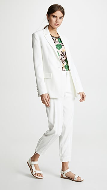 Jason Wu Satin Back Crepe Jacket
