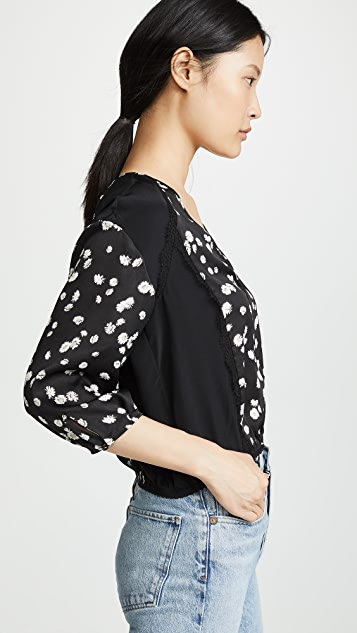 Jason Wu Grey Spring 雏菊印花 V 领女式衬衫