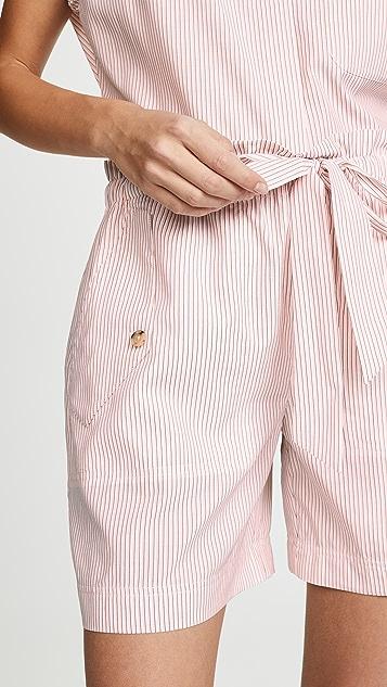 Jason Wu 条纹抽绳短裤