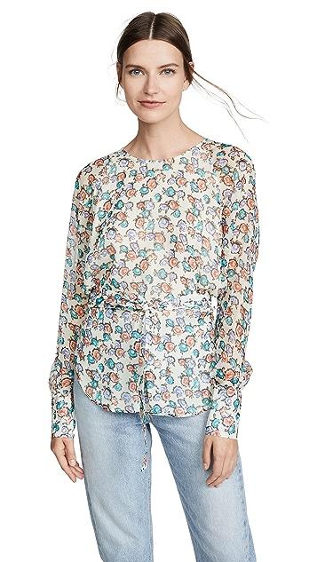 Jason Wu 印花系腰女式衬衫