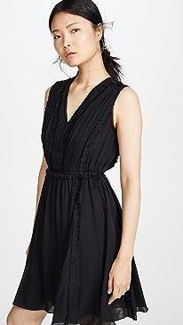 Silk V Neck Dress