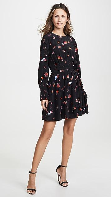 Jason Wu 花朵图案长袖连衣裙