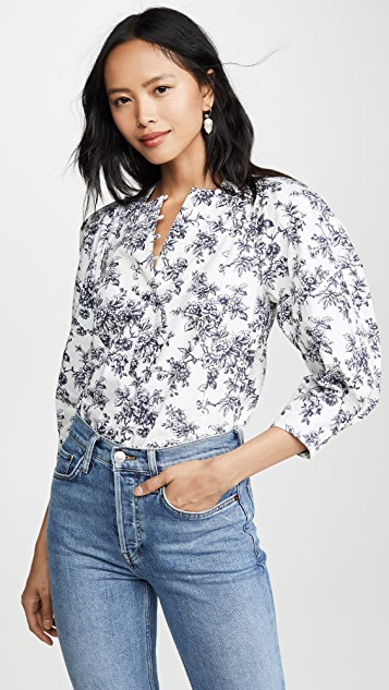 Printed Cotton Blouse by Jason Wu