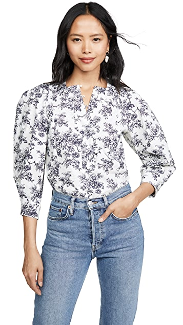 Jason Wu Printed Cotton Blouse