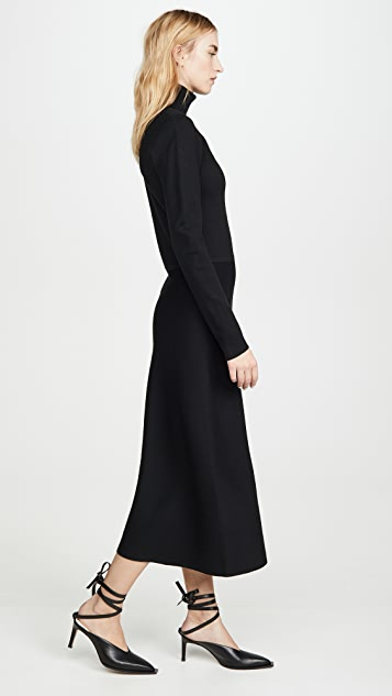 Jason Wu Merino Knit Cutout Dress