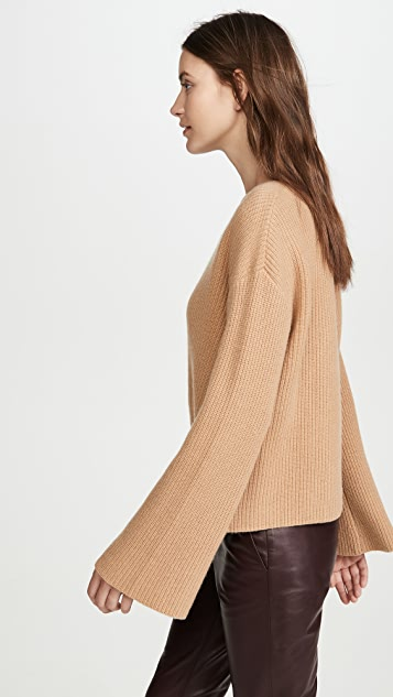 Jason Wu Cashmere Crew Neck with Twisted Front