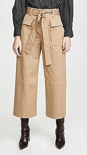 Jason Wu 棉质斜纹织物实用阔腿裤