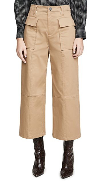 Jason Wu Cotton Twill Utility Wide Leg Pants