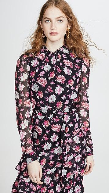 Jason Wu Асимметричное платье с принтом