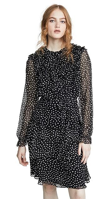 Jason Wu Small Dot Long Sleeve Dress