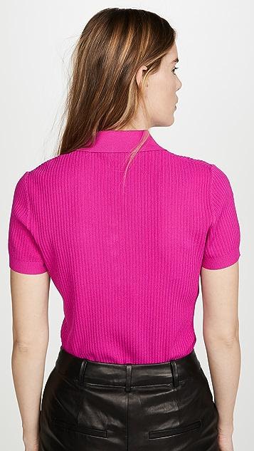 Jason Wu 针织短袖马球衫
