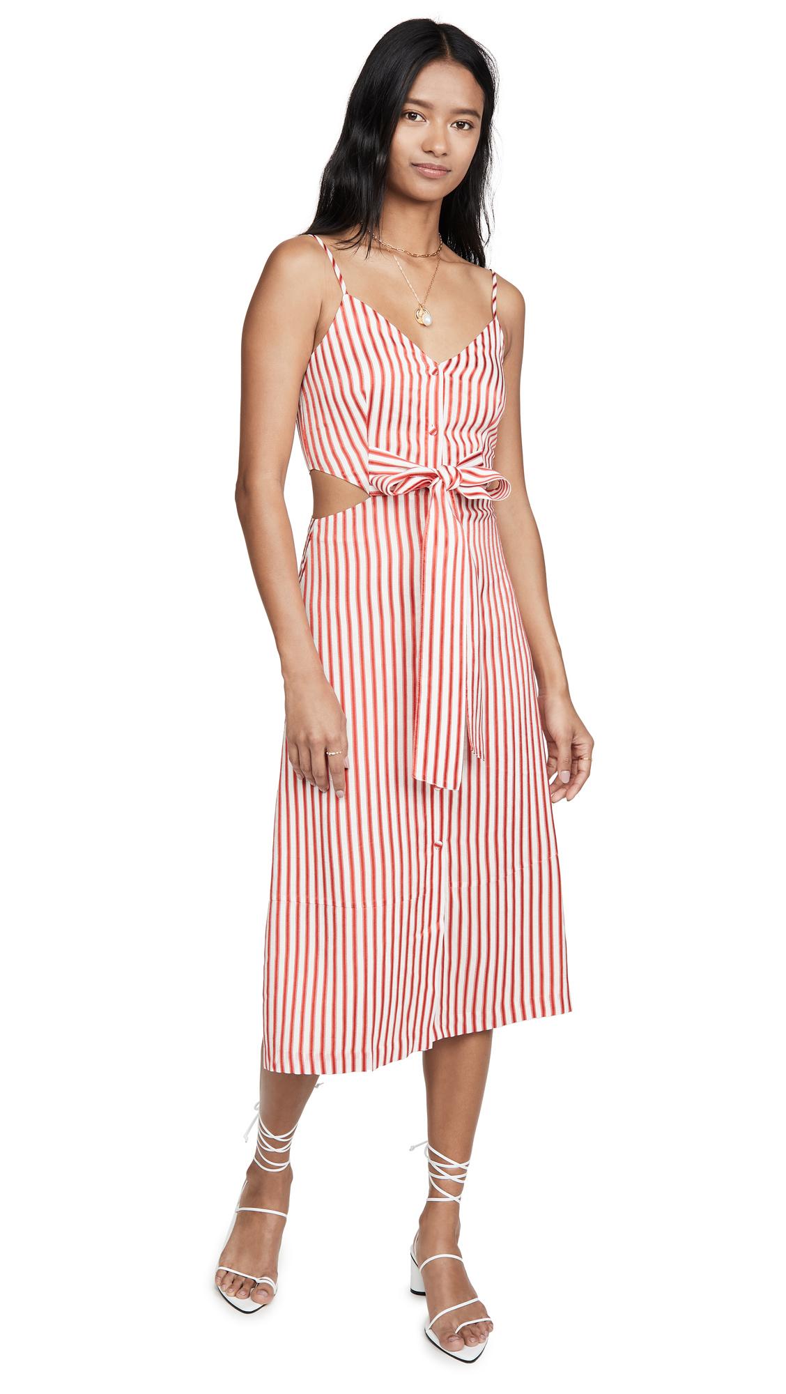 Jason Wu Fluid Stripe Front Tie Dress