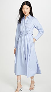 Jason Wu Open Back Poplin Shirt Dress