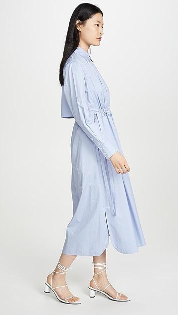 Jason Wu 露背府绸衬衣连衣裙