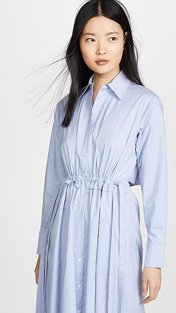 Jason Wu Open Back Poplin Shirt Dress