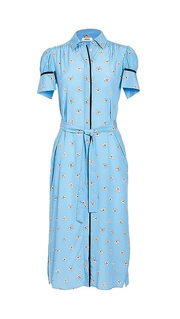 Jason Wu 短袖印花衬衣连衣裙