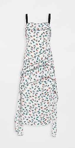 Jason Wu - Asymmetric Flounce Mini Logo Dress