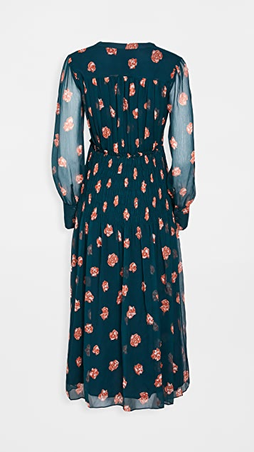 Jason Wu Printed Smocked Waist Dress