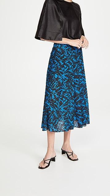 Jason Wu 斑马印花裥褶半身裙