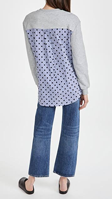 Jason Wu Sweatshirt with Stripe Flocking Combo